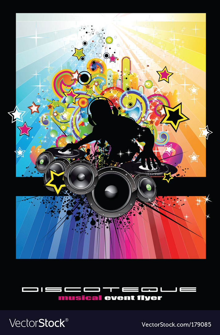 Techno Dj vector image