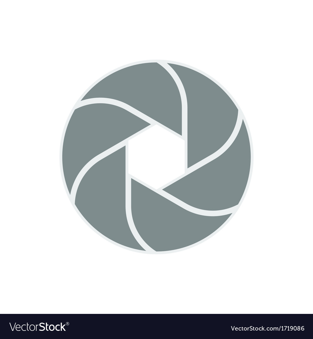 Iris diaphragm camera shutter icon vector image