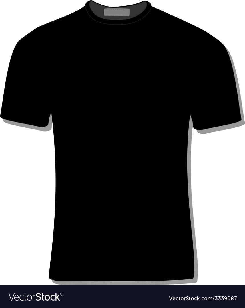 Black t shirt vector - Black T Shirt Vector Image