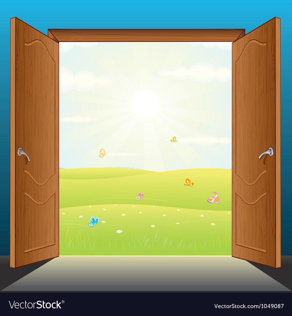 Doors to Nature vector image