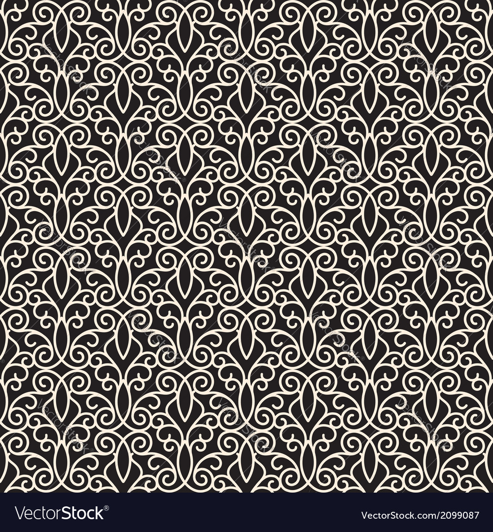 Swirly ornament vector image