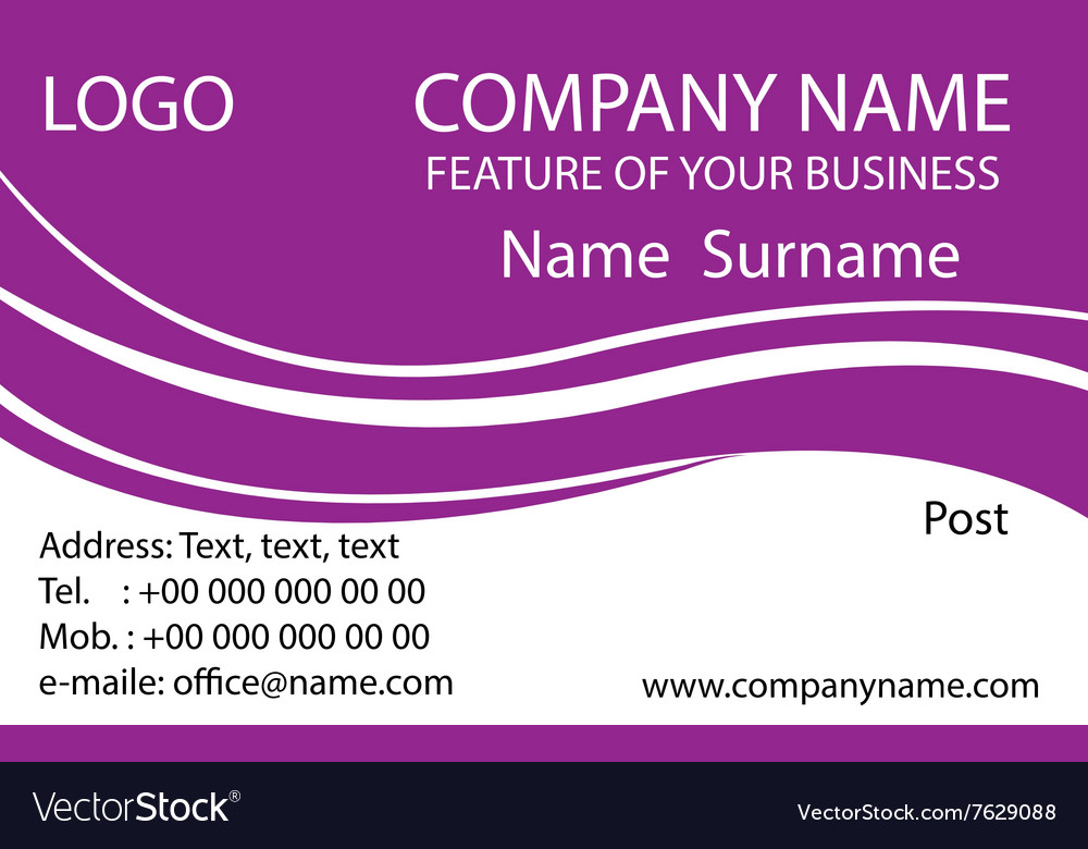 Purple business cards background Royalty Free Vector Image