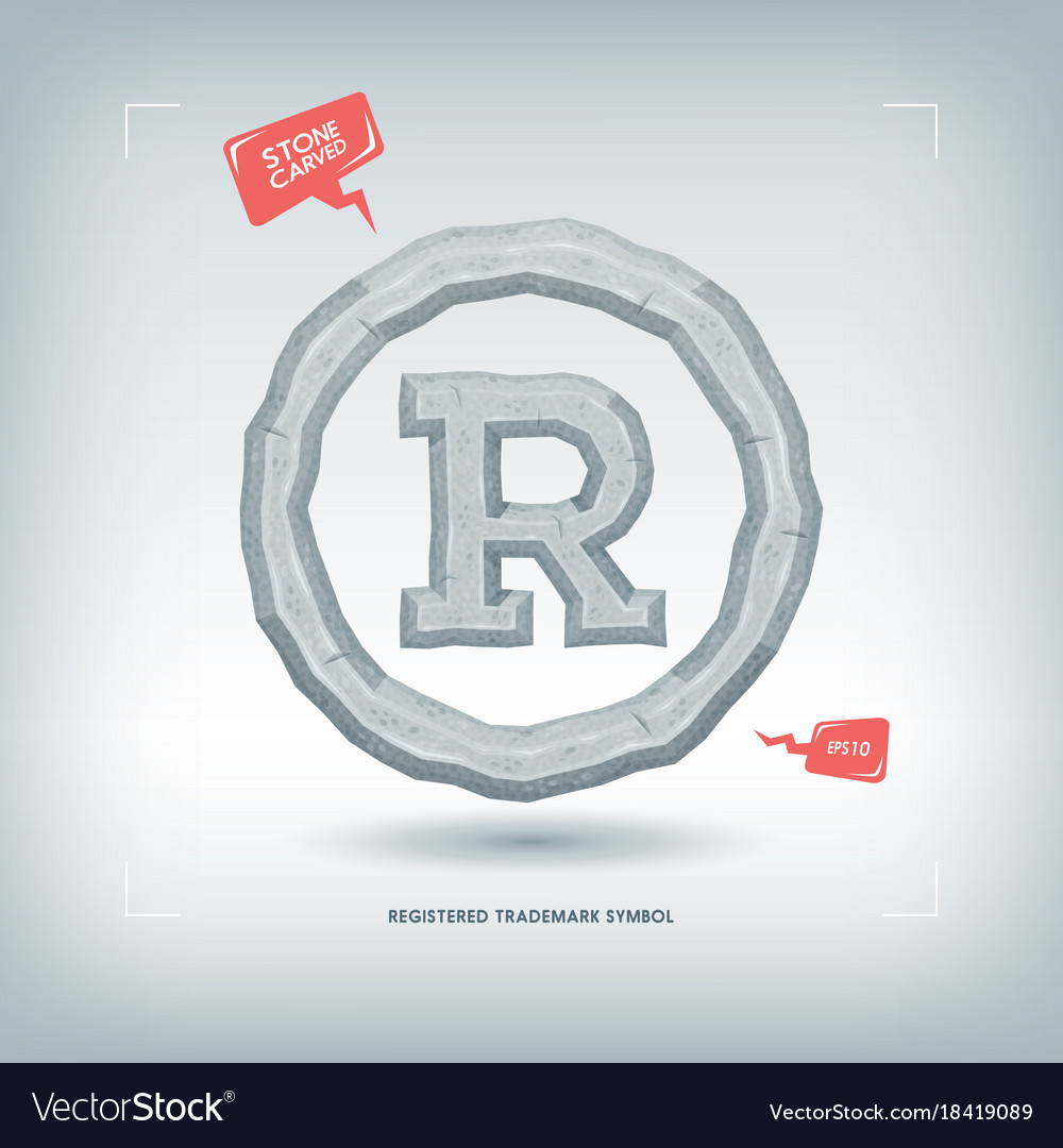 Registered trademark symbol stone carved typeface vector image registered trademark symbol stone carved typeface vector image biocorpaavc Gallery