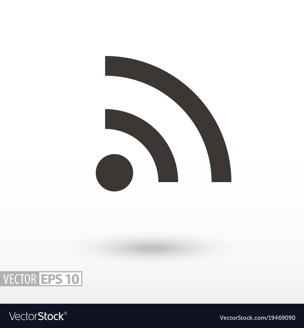 Wifi flat icon sign internet connection royalty free vector wifi flat icon sign internet connection vector image buycottarizona Images