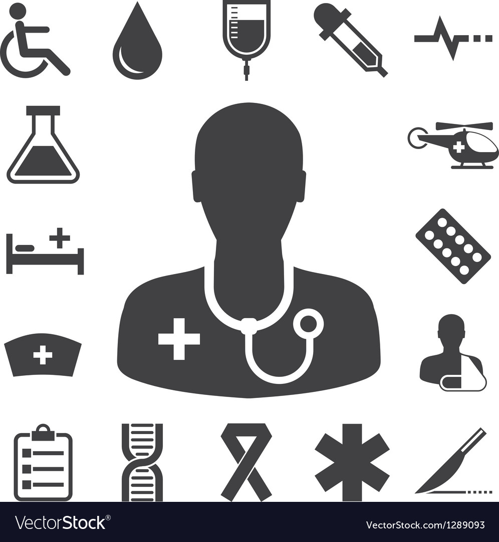 Medical icons set eps 10 Vector Image