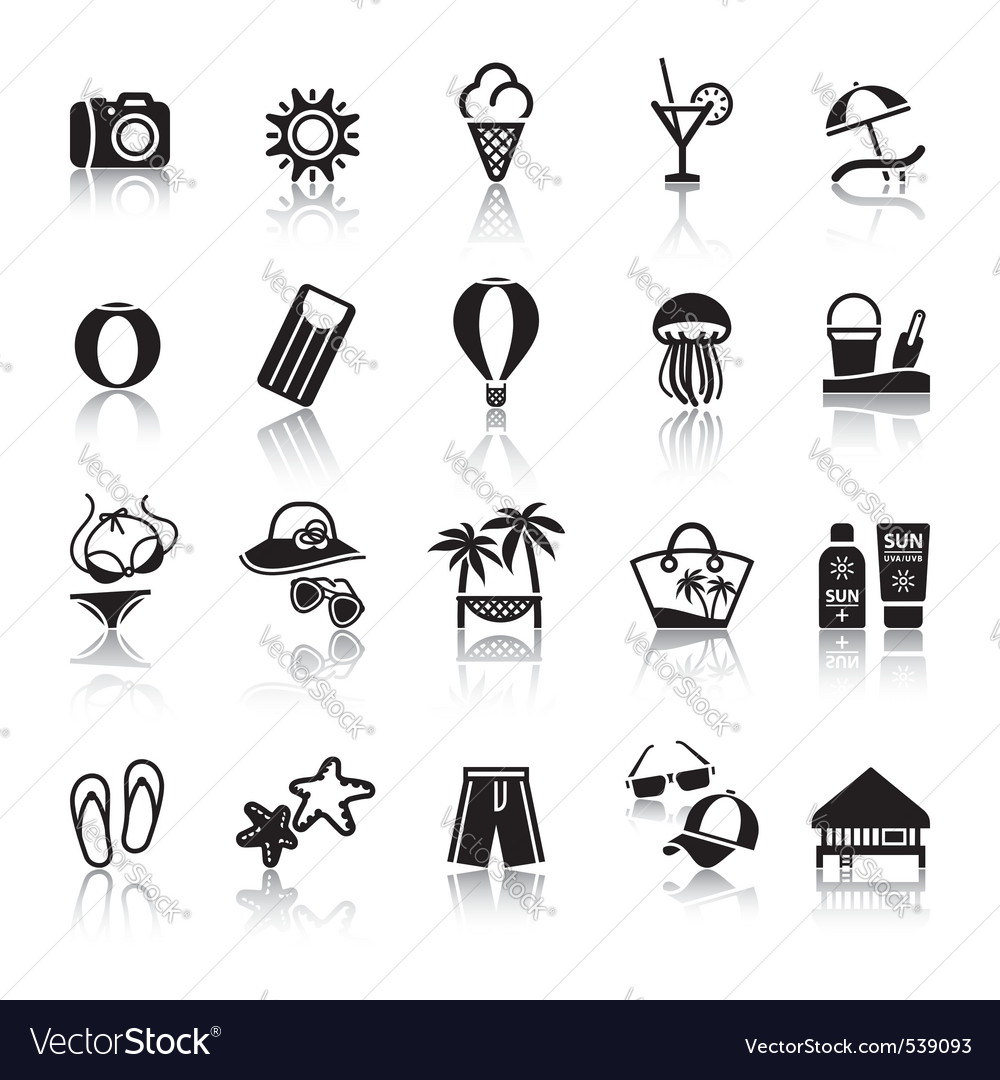 Signs tourism travel sports second set vector image