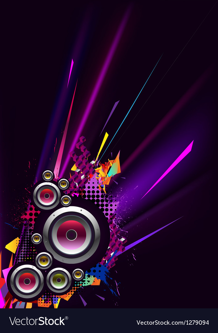 Musical poster vector image