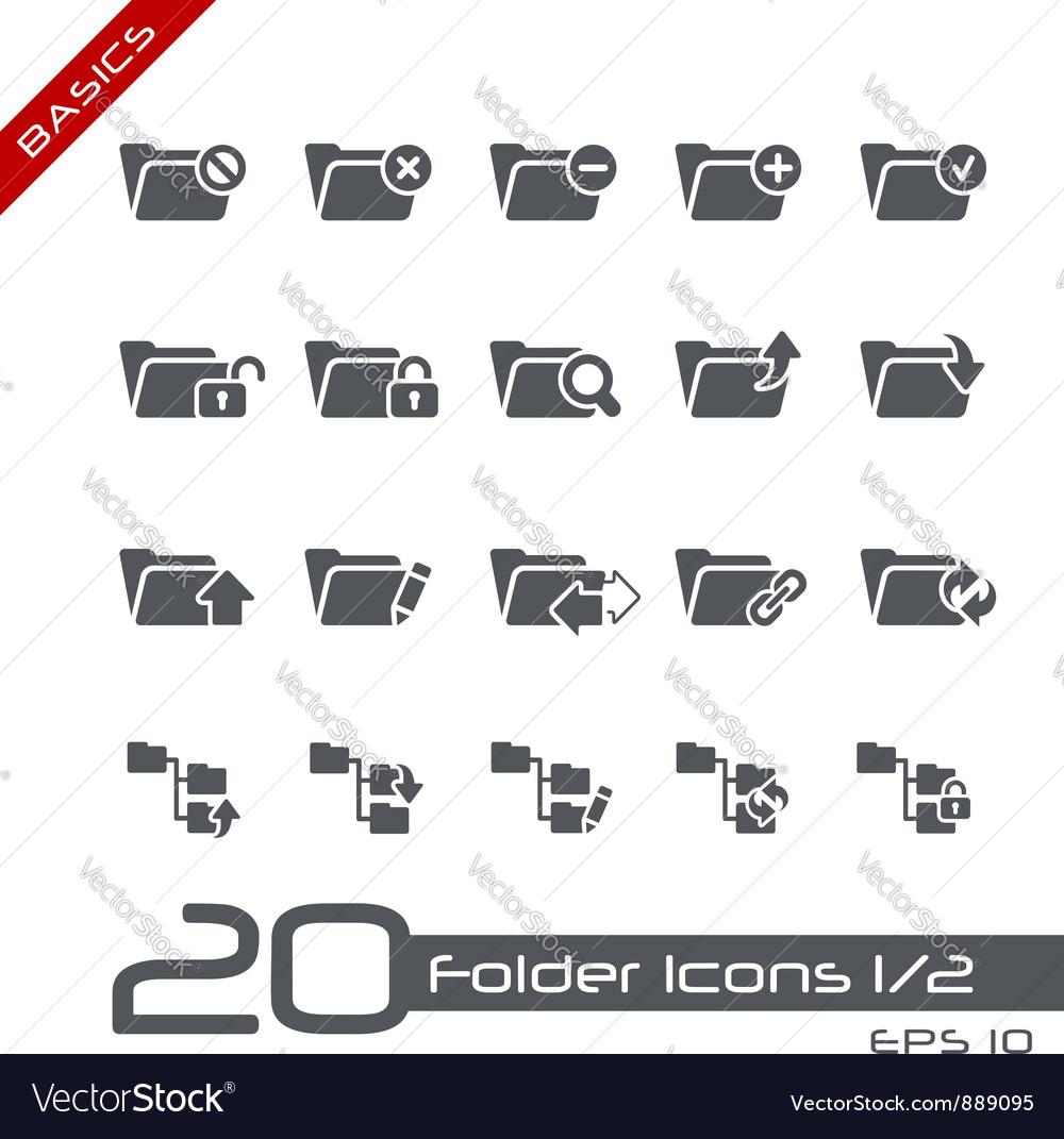 Folder Icons Basics vector image