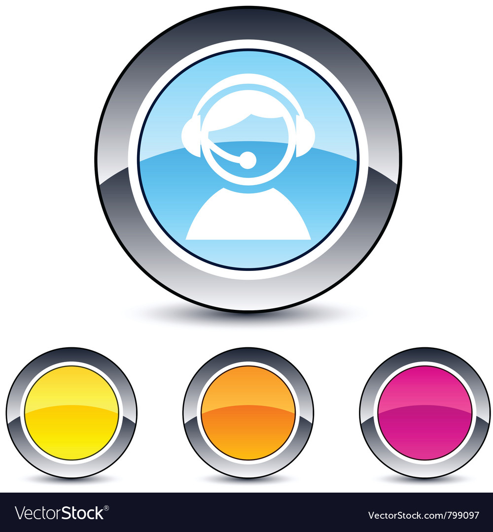 Operator round button vector image