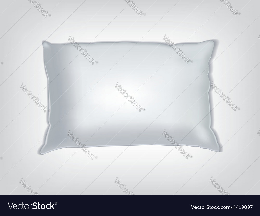 Clean white pillow mockup vector image