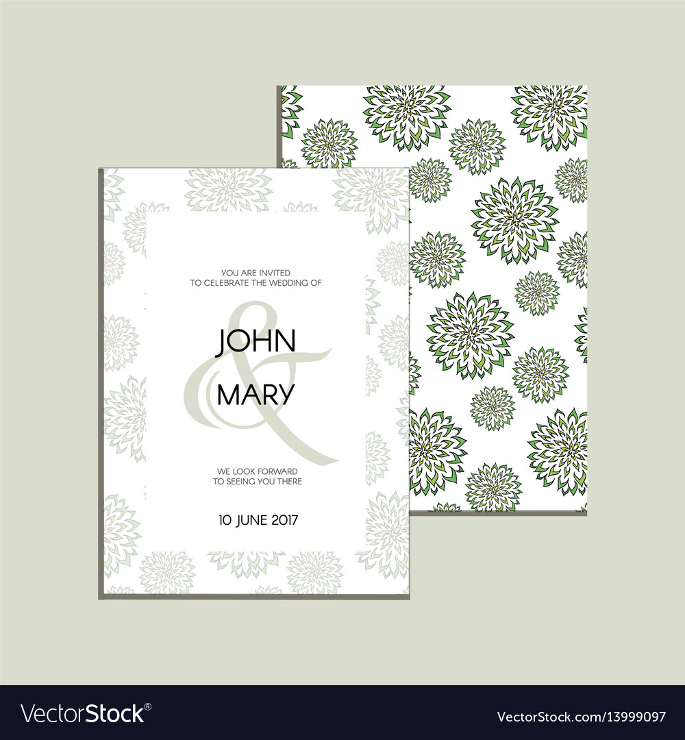 Invitation with handmade floral elements vector image invitation with handmade floral elements vector image stopboris Image collections