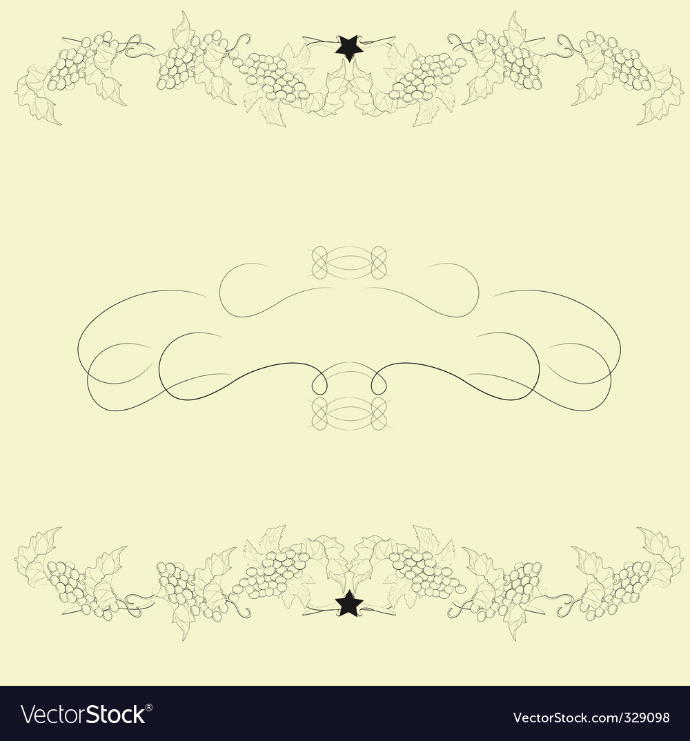 Template for background with wine vector image