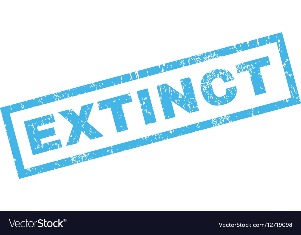 Extinct Rubber Stamp vector image