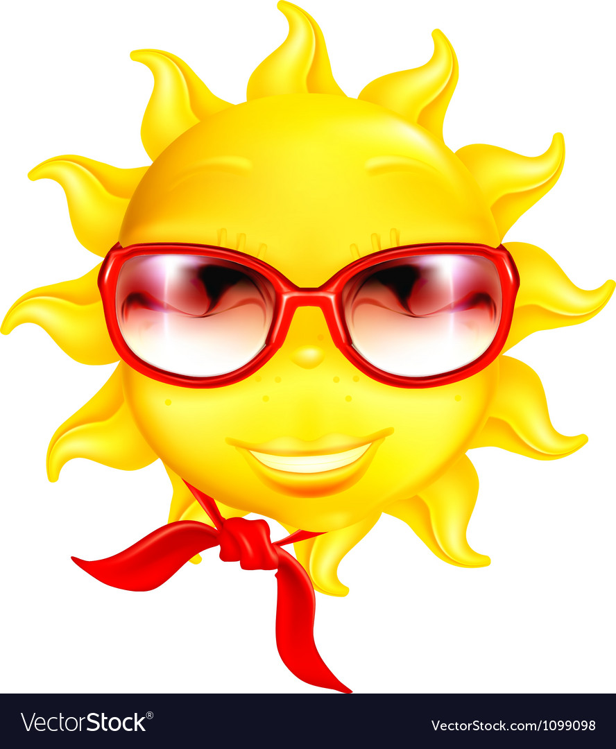 Fun sun vector image