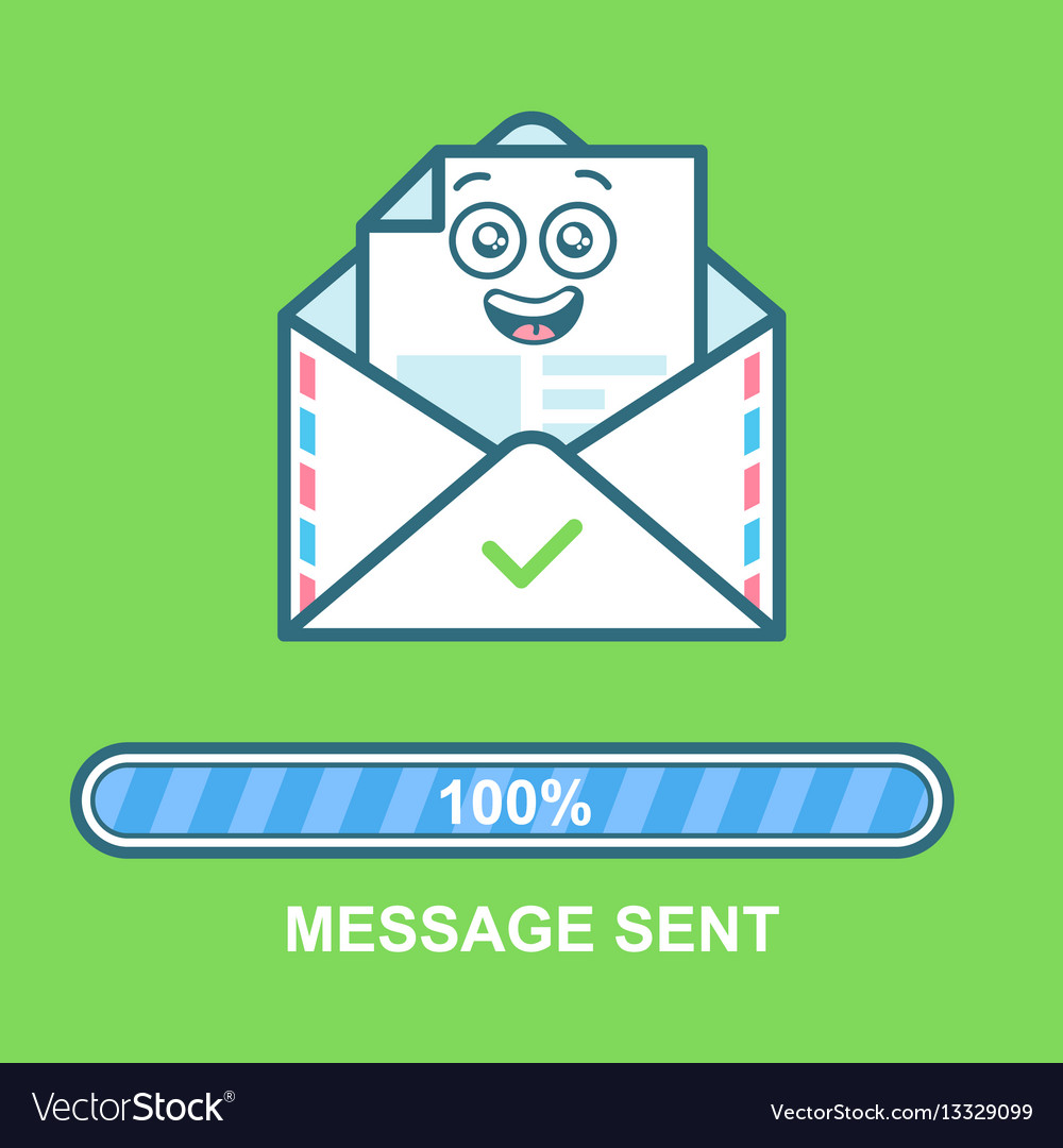 Envelope emoticon flat email vector image