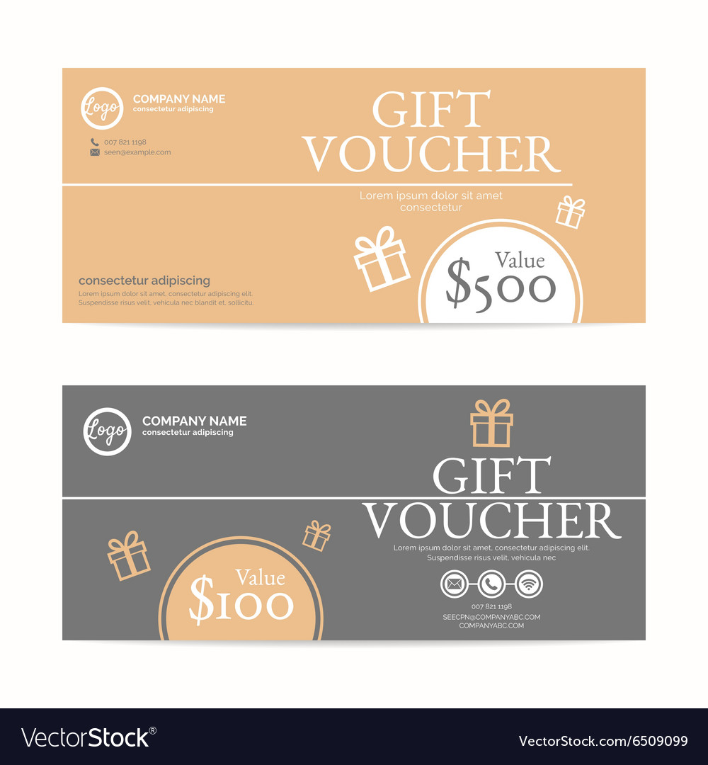 Gift voucher template eps10 format Royalty Free Vector Image