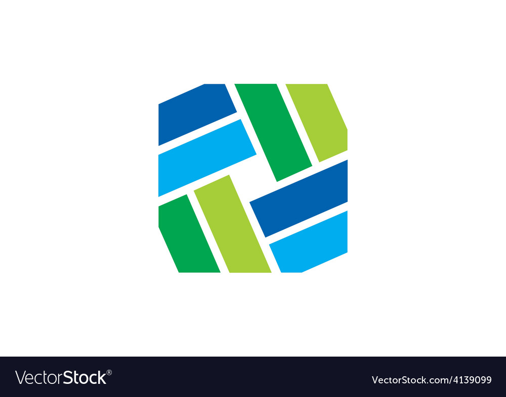 Shape decorative square logo vector image