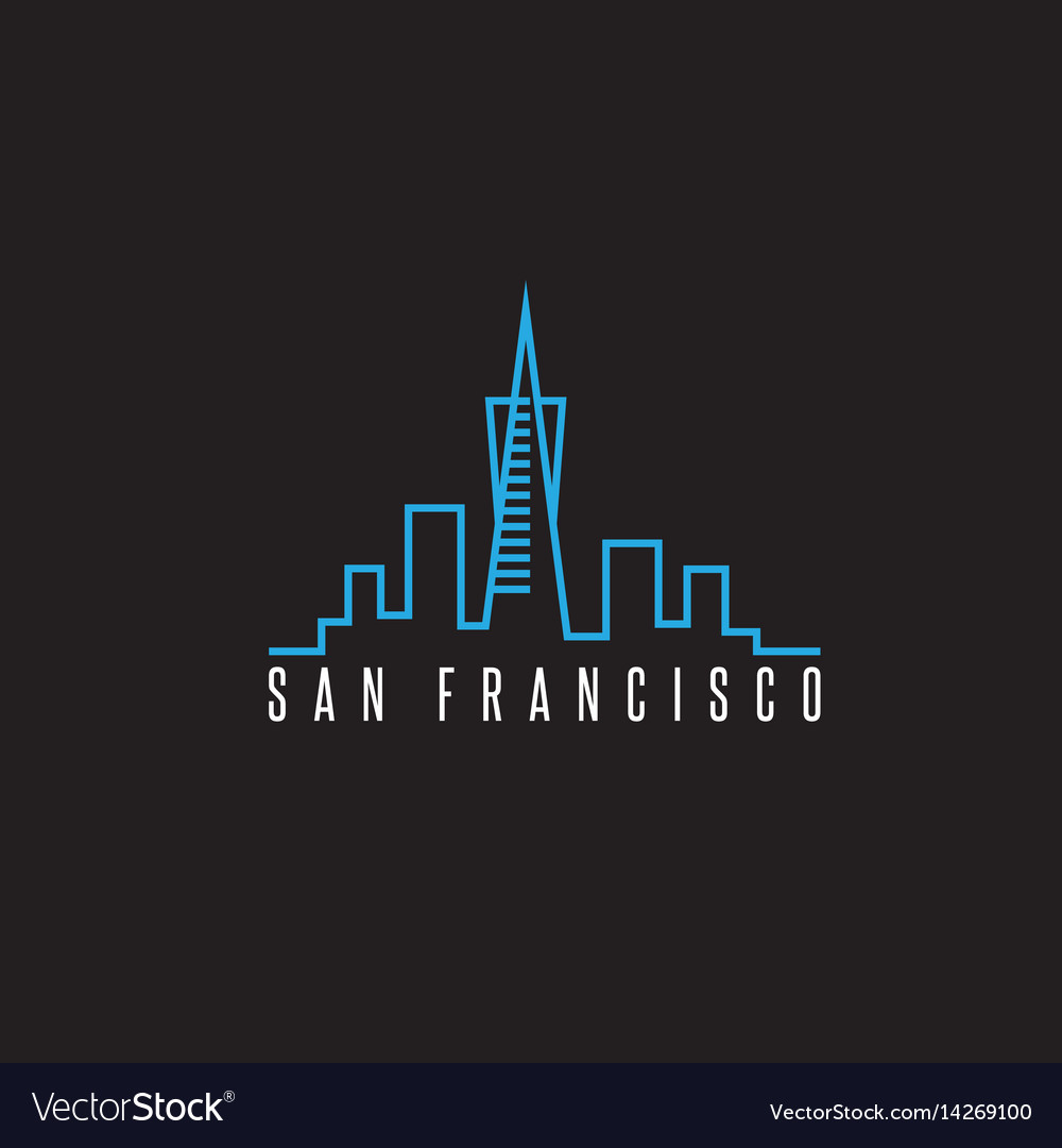 San francisco skyline design template vector image