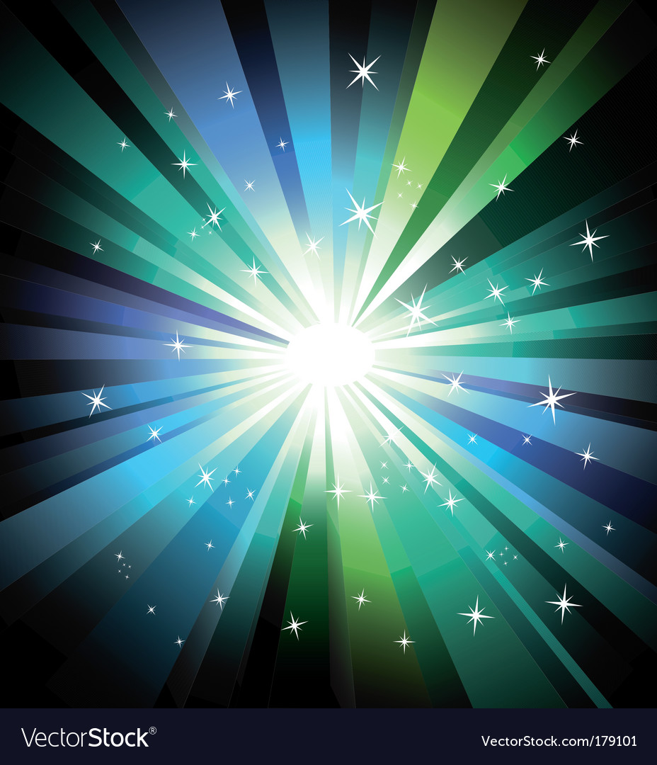 Lights explosion vector image