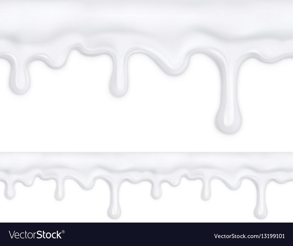 White doughnut glaze seamless pattern mesh vector image