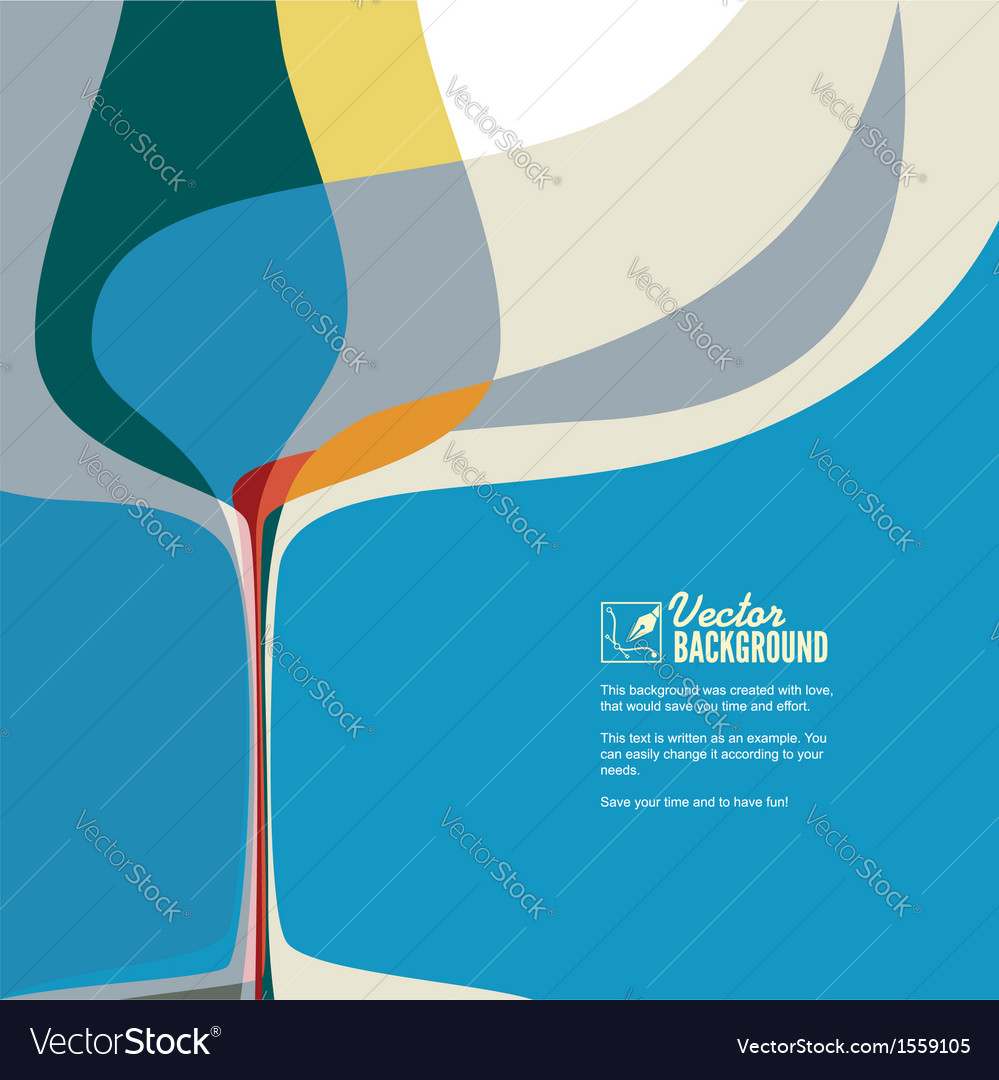 Ector with silhouette of wine glass vector image