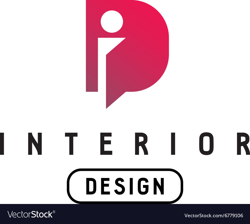 Interior design logo vector - Letter I And D Monogram Logo Interior Design Vector Image