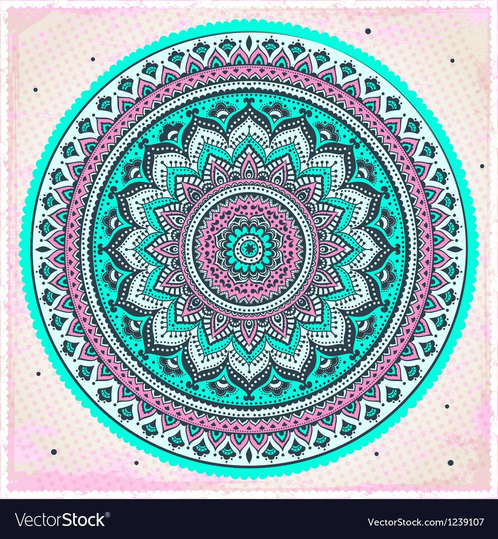 Beautiful Indian ornament vector image