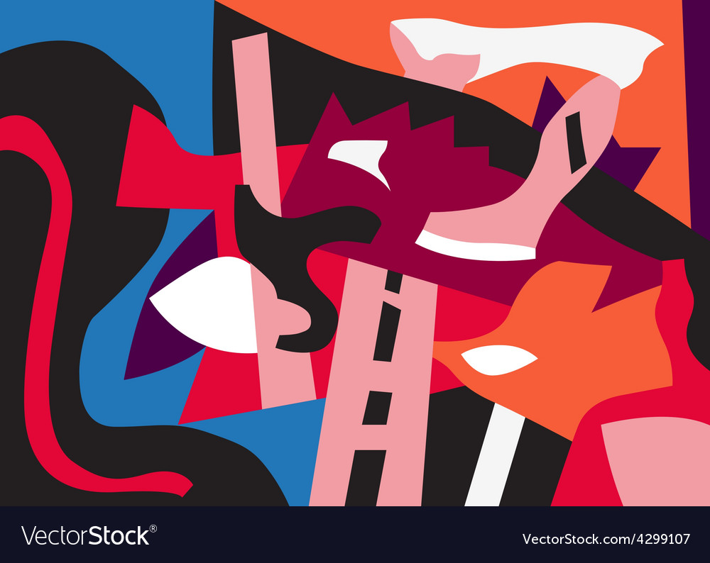 Psychology - abstract art background vector image