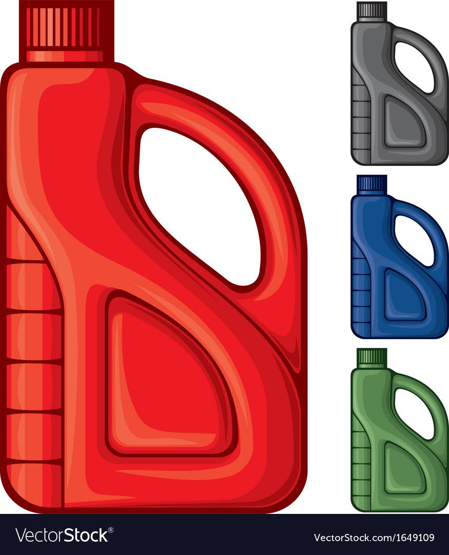 Plastic gallon vector image
