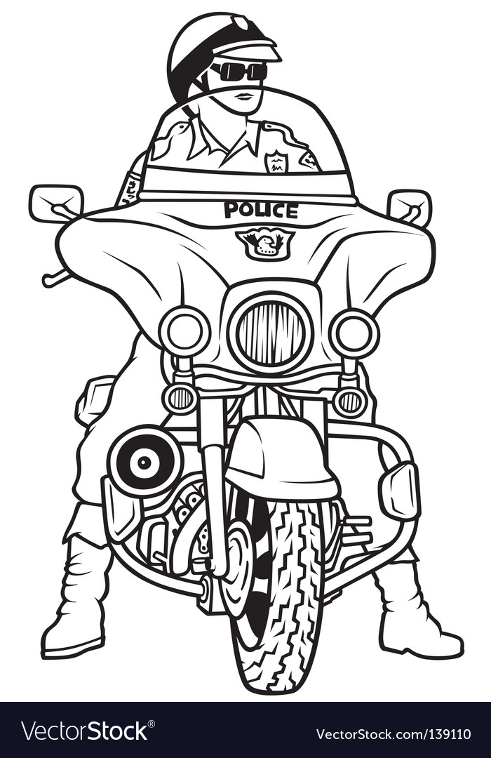Road police vector image