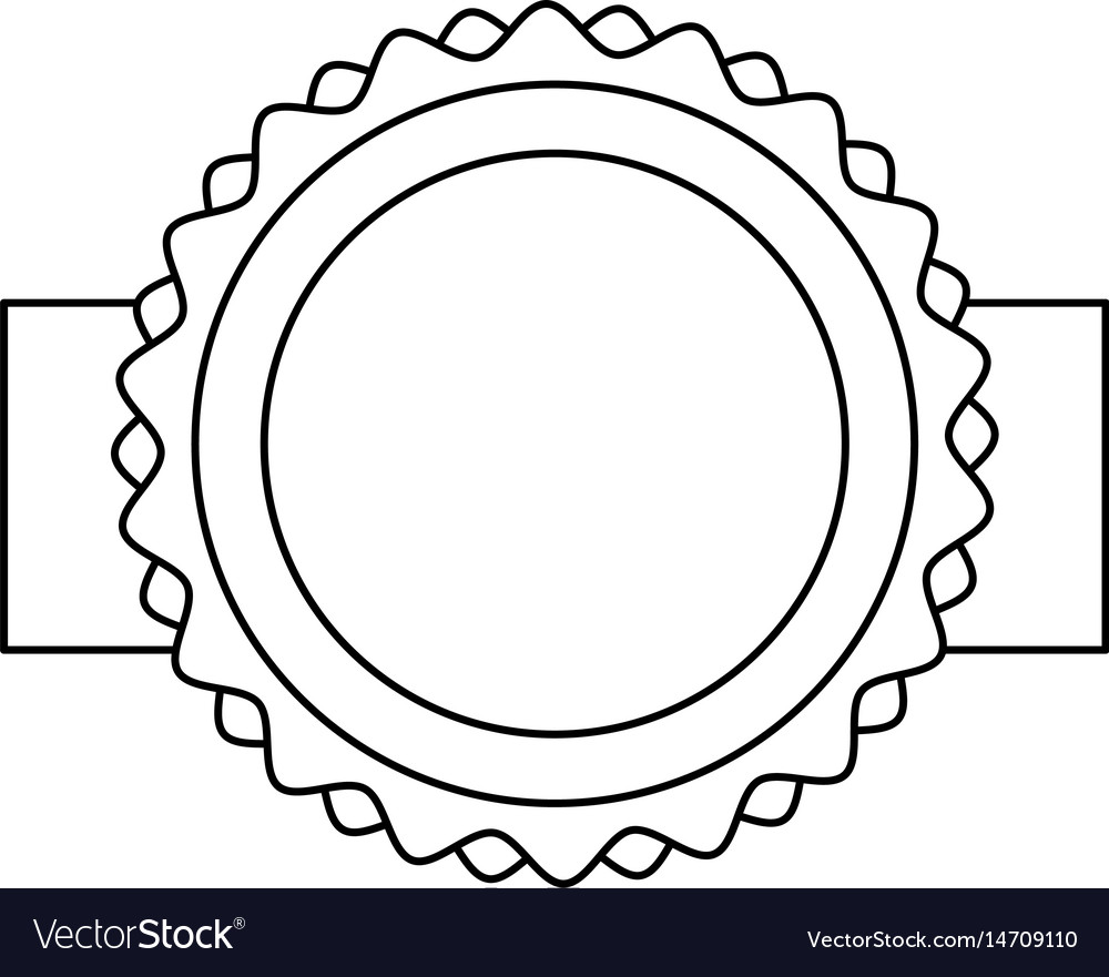 Circle seal stamp icon vector image