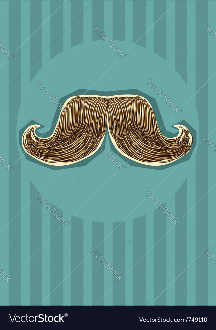 Mustaches background for design vector image
