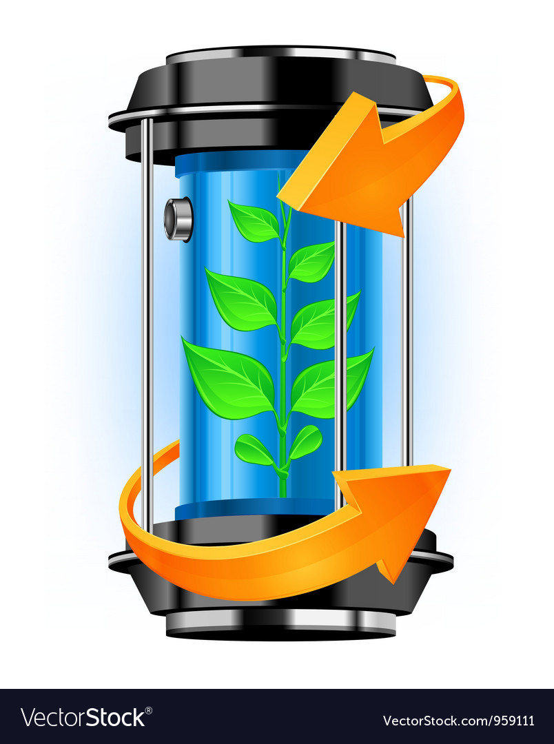 Ecology tube vector image