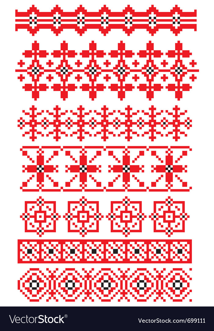 Russian ornaments vector image
