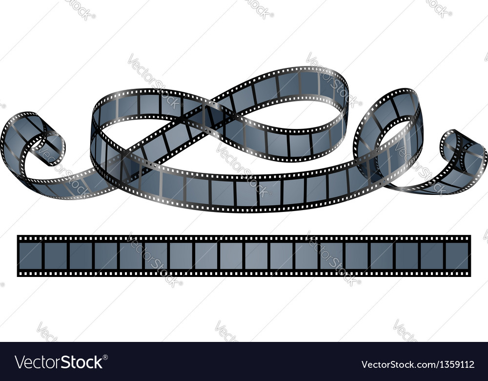 Twisted film reel isolated vector image