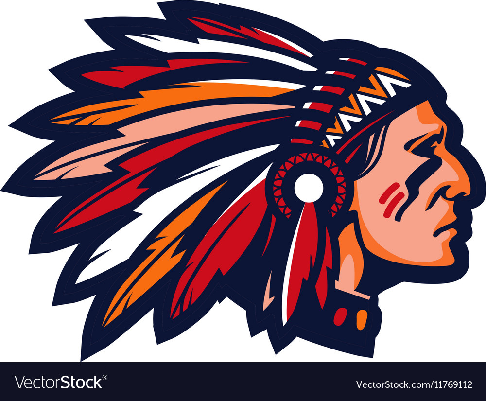 Indian chief Logo or icon mascot vector image