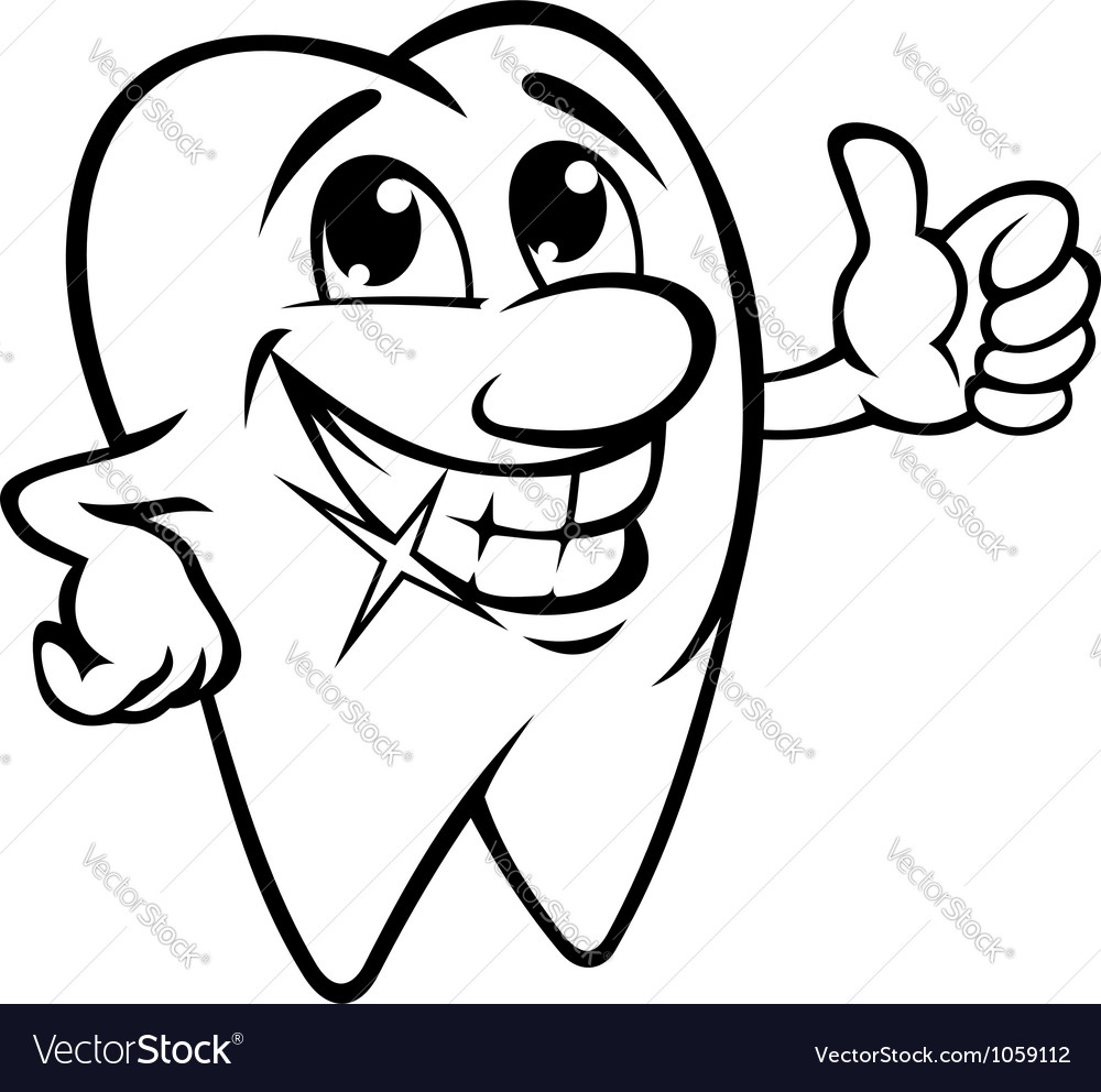 Smiling tooth vector image