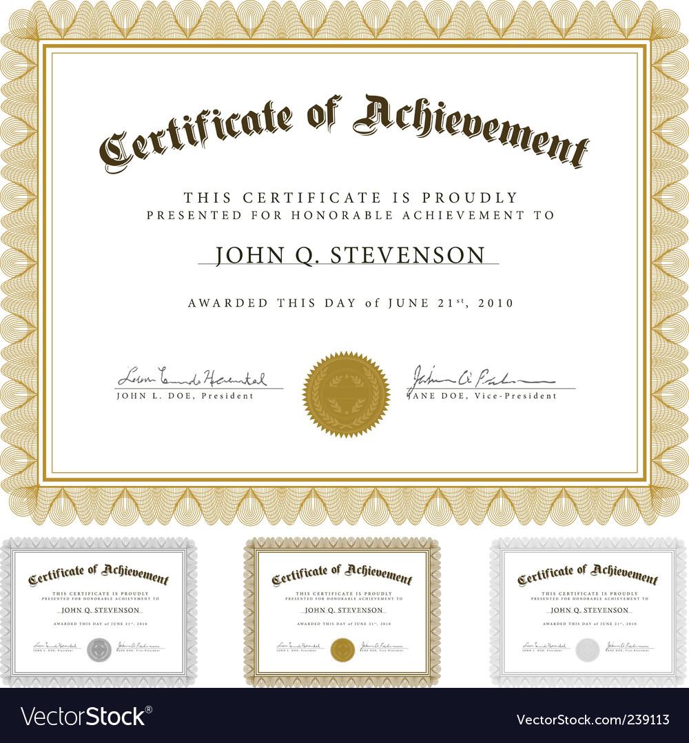 Guilloche certificate set vector image
