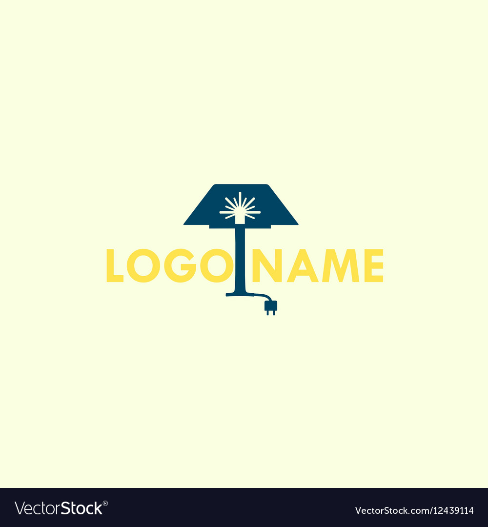 Lamp logo icon for furniture store home vector image