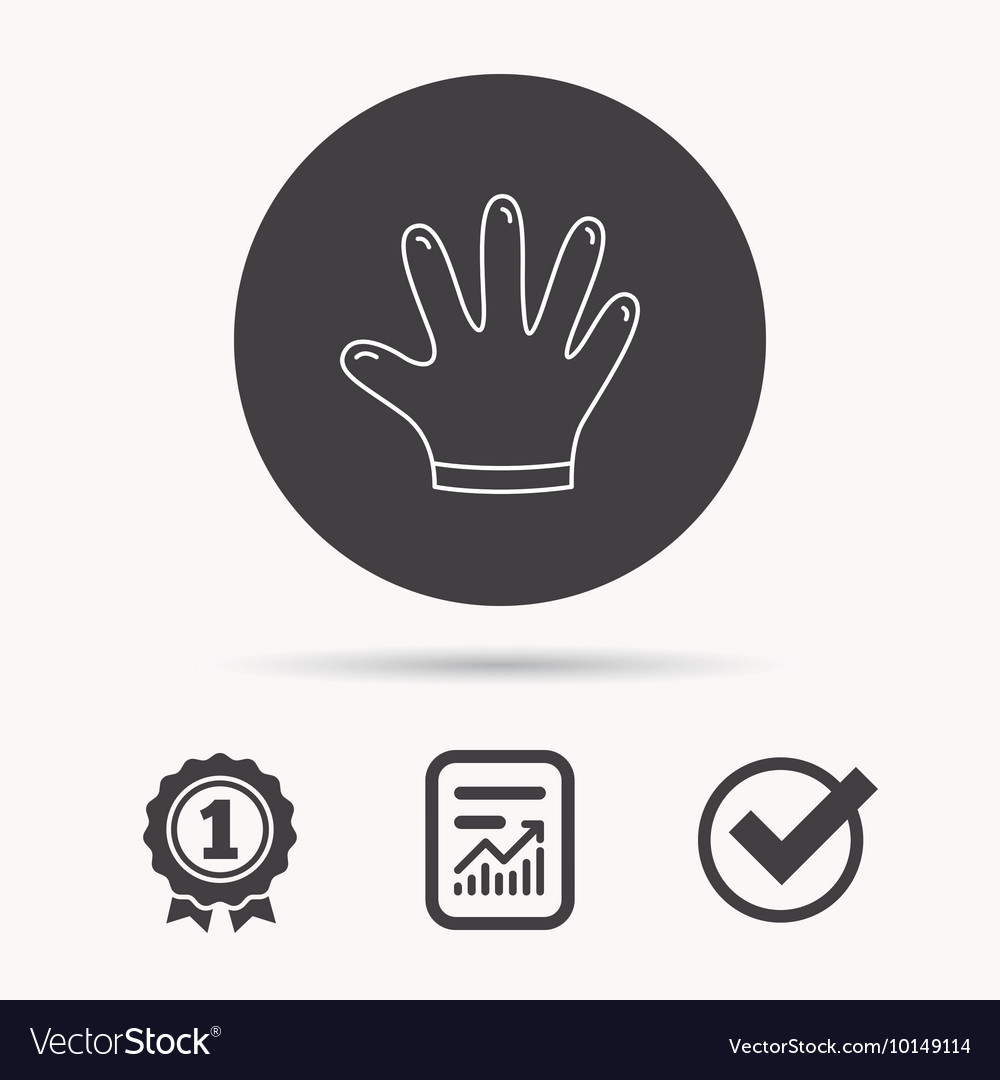 Rubber gloves icon latex hand protection sign vector image rubber gloves icon latex hand protection sign vector image biocorpaavc