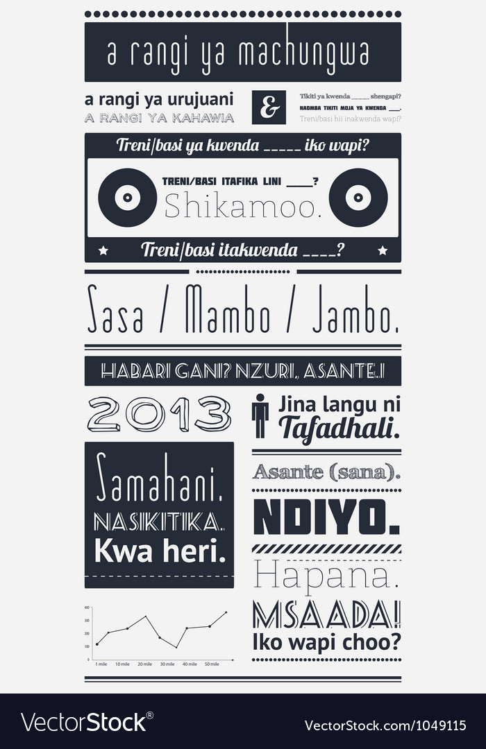 Typography with elements of infographics and icons vector image