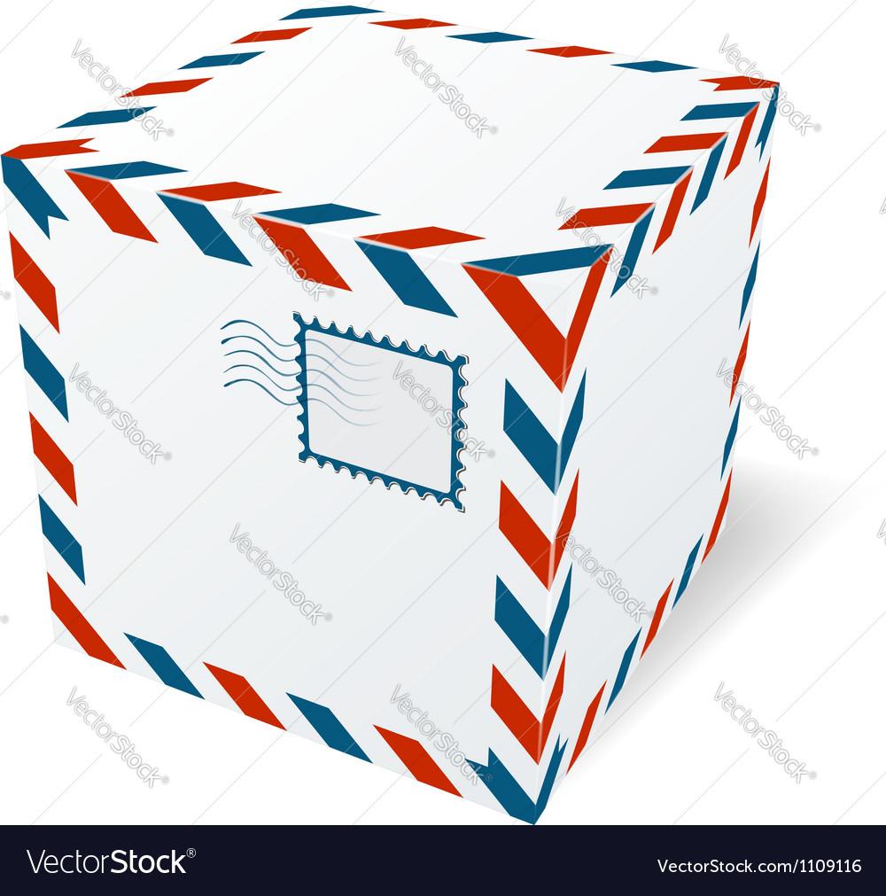 Isolated cardboard box Vector Image