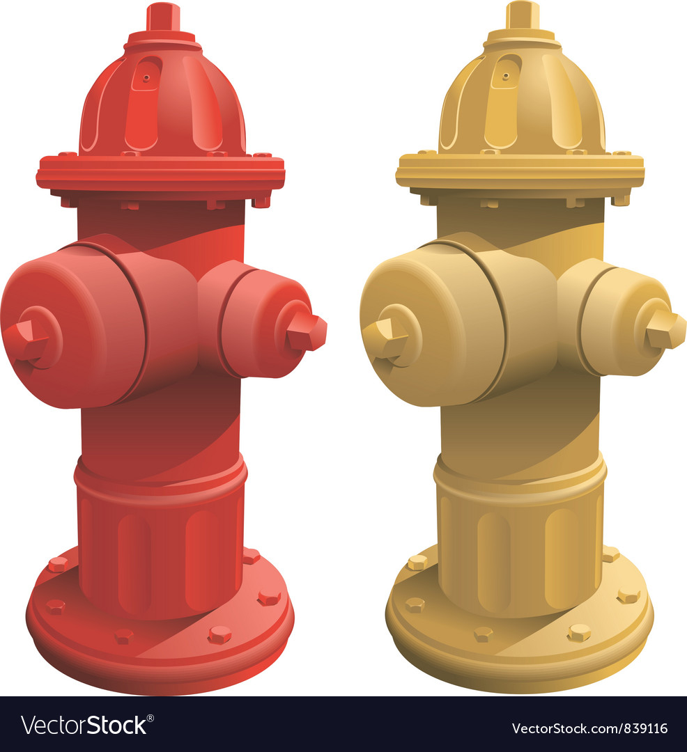 Fire Hydrants vector image