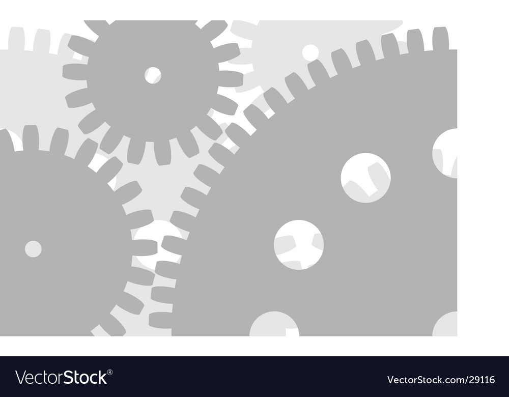 Gear back vector image