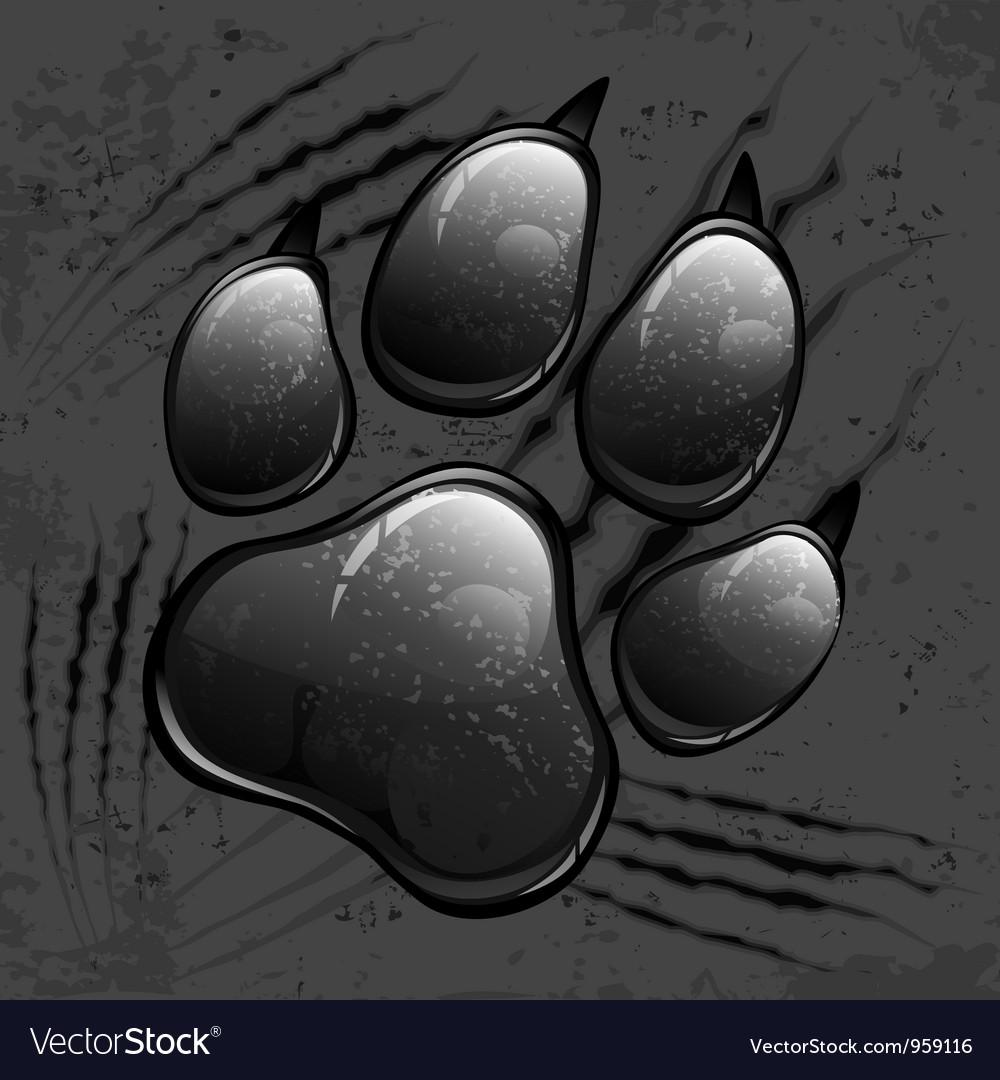 Paw pattern v vector image