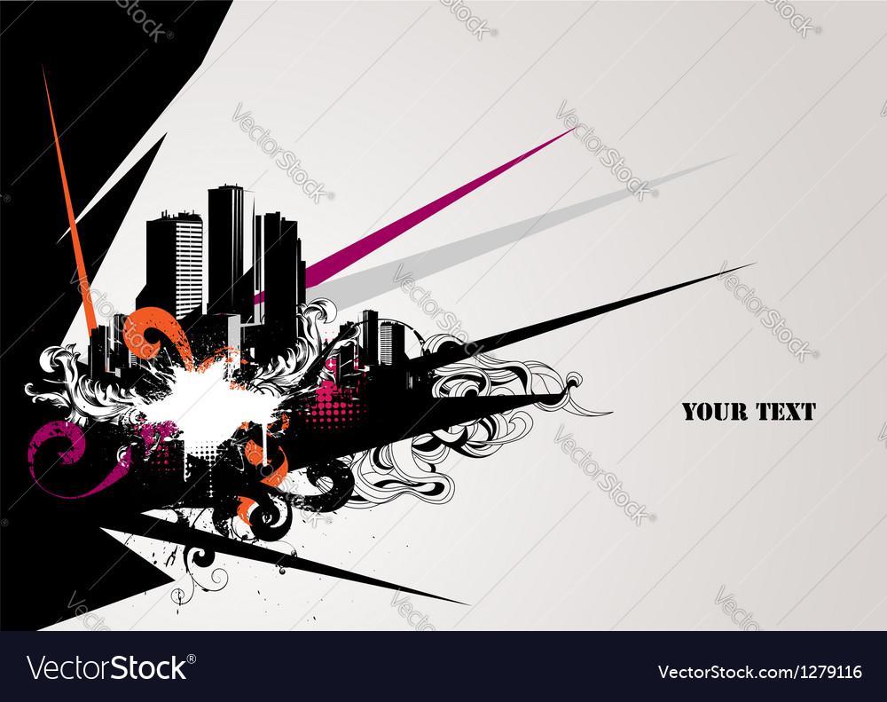 Urban composition vector image