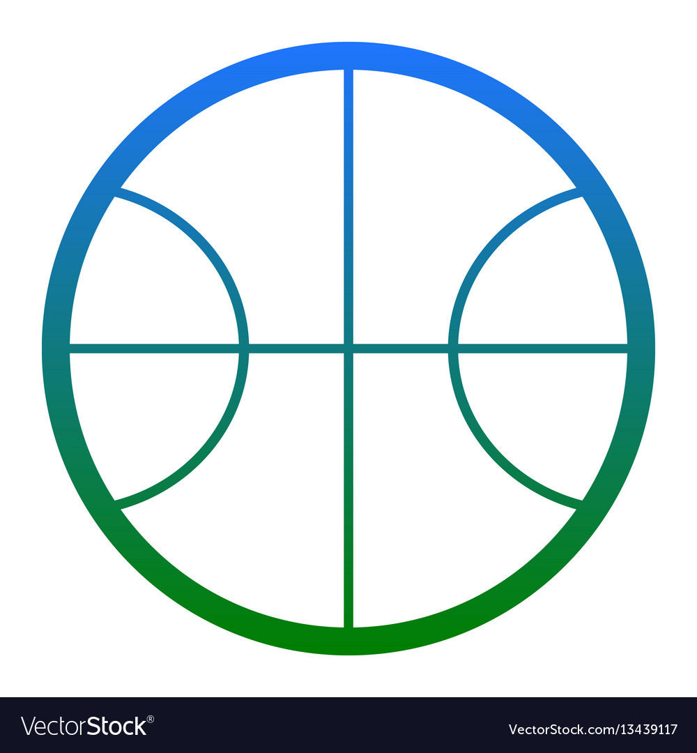 Basketball ball sign white vector image