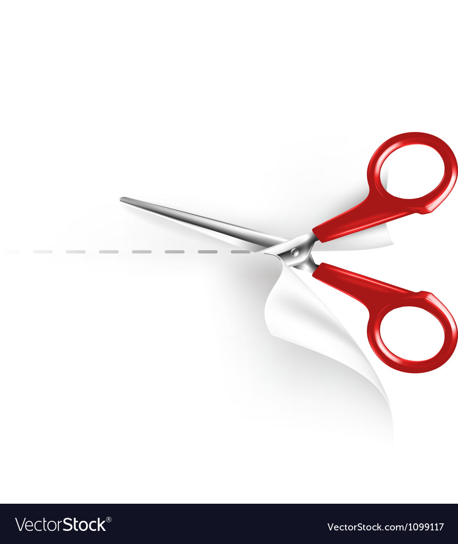Scissors and paper vector image