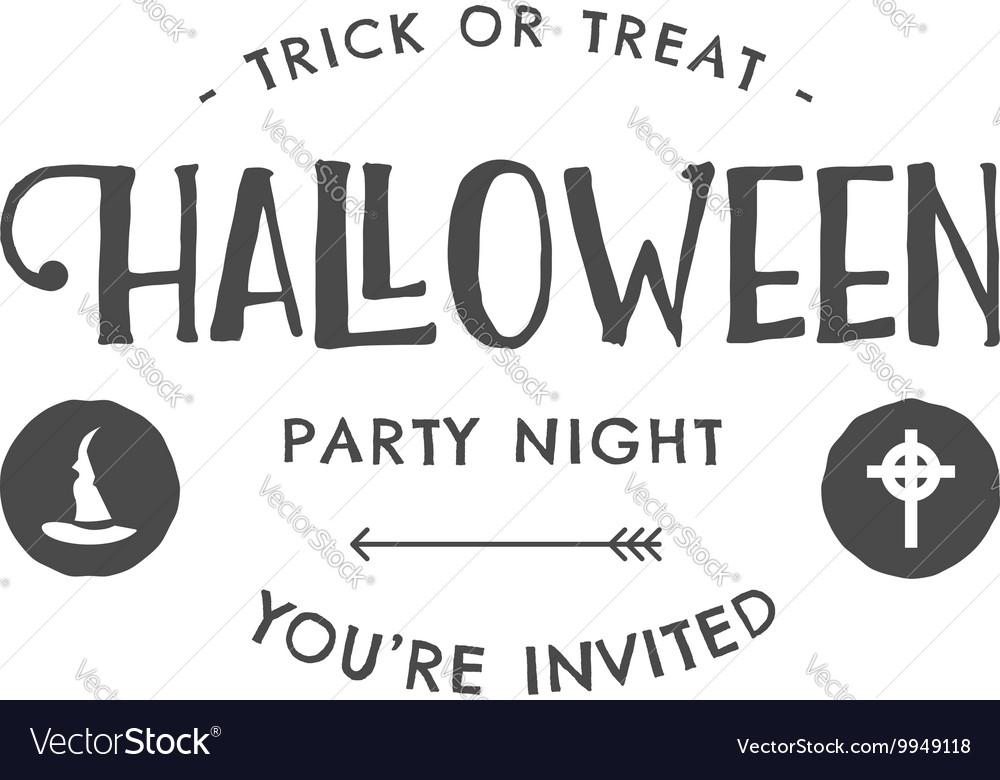 Halloween 2016 party invitation label templates vector image stopboris Images