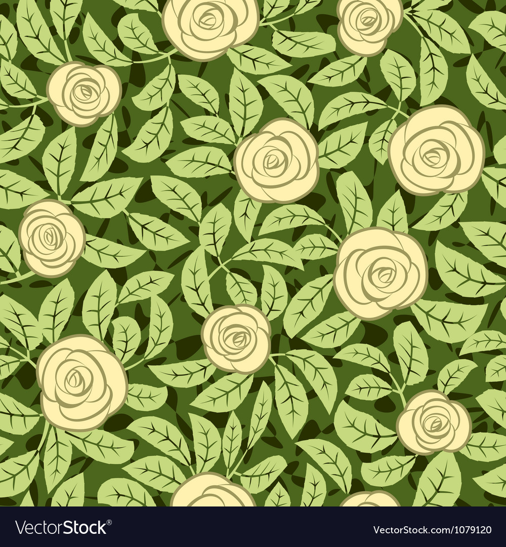 Seamless abstract yellow rose background Vector Image